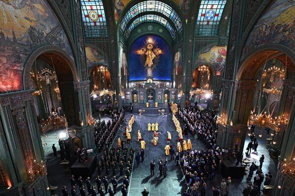 Церемония освящения главного храма Вооруженных сил РФ в парке Патриот в Московской области
