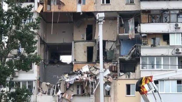 Кадры последствия взрыва газа в жилом доме в Киеве