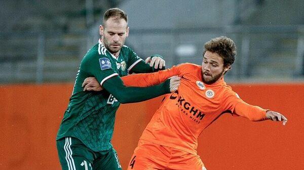 Евгений Башкиров в матче чемпионата Польши.