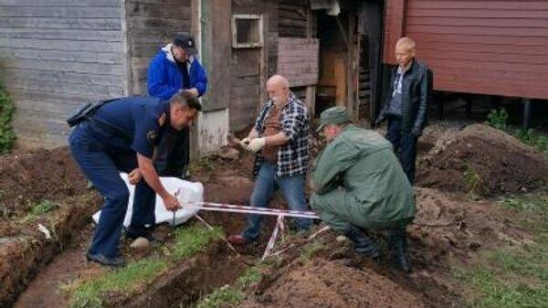 Обнаружение на территории храма Святых Царственных Страстотерпцев костных останков неустановленного человека в Ленинградской области