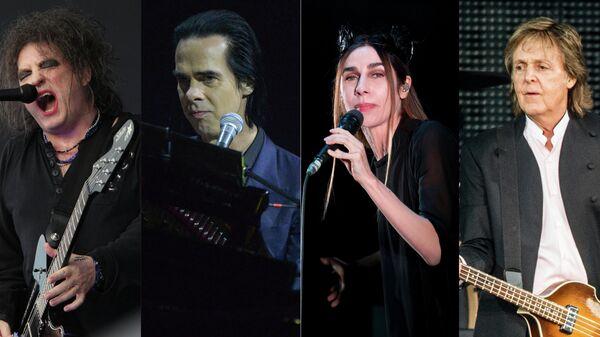 Лидер британской группы The Cure Роберт Смит, Ник Кейв,  PJ Harvey и Пол МакКартни