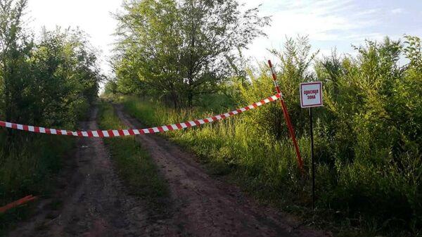 Опасная зона недалеко от места прорыва газопровода в Самарской области