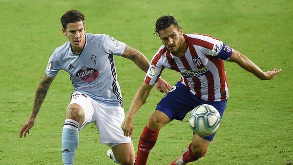 Игровой момент матча Сельта - Атлетико