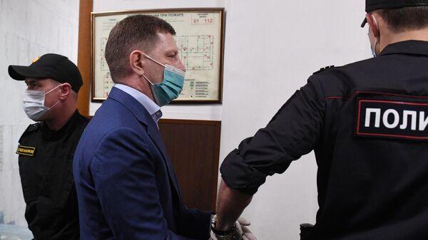 Сергей Фургал в Басманном суде Москвы
