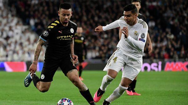 Матч Лиги чемпионов УЕФА между мадридским Реалом и Манчестер Сити