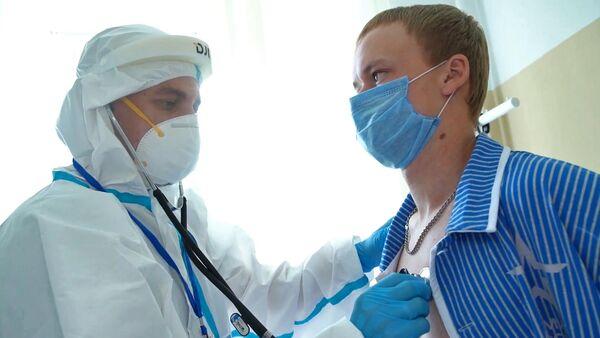 Испытание вакцины от коронавируса в военном госпитале имени Бурденко в Москве