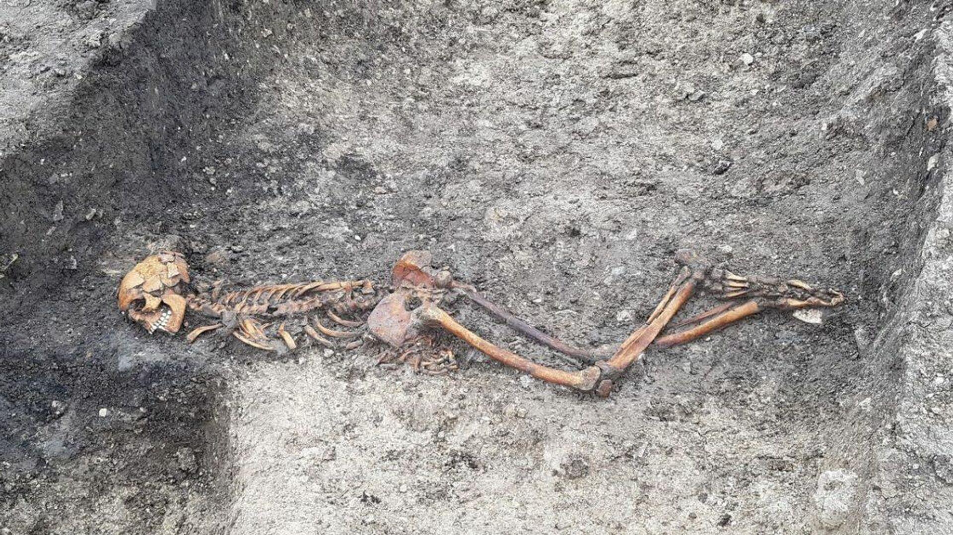 Останки человека, который жил около двух тысяч лет, найденные около фермы Уэллвик в Великобритании - РИА Новости, 1920, 16.07.2020