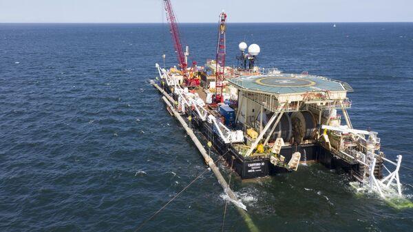 Надводная сварка захлёстного стыка морской части газопровода Северный поток-2
