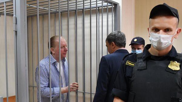 Бывший генеральный директор Российского авторского общества Сергей Федотов в Пресненском суде Москвы