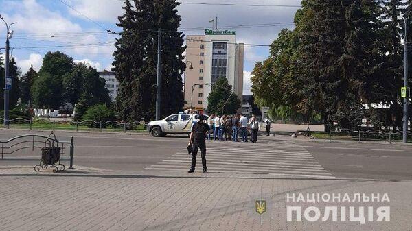 Сотрудники правоохранительных органов Украины в Луцке