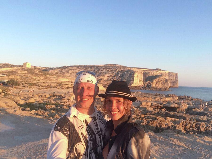 Денис Майданов с супругой Натальей на Мальте