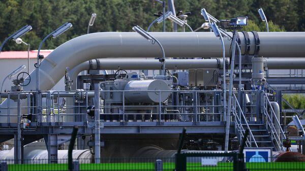 Наземный стыковочный пункт газопровода Северный поток-2 в Любмине