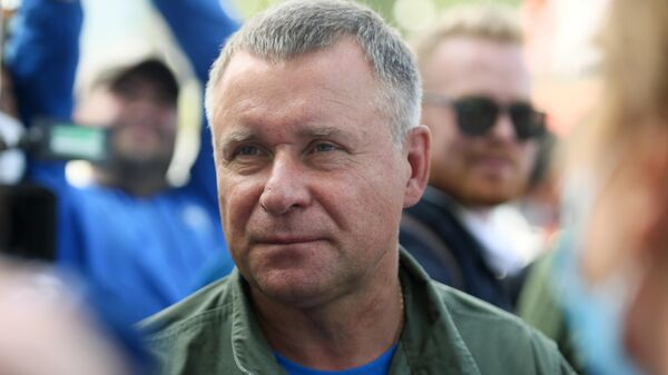 Глава МЧС России Евгений Зиничев после облета подтопленных территорий в городе Нижние Серги