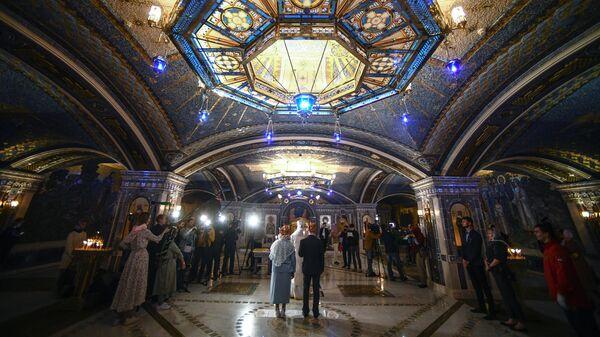 В Главном храме Вооруженных сил России провели первое венчание