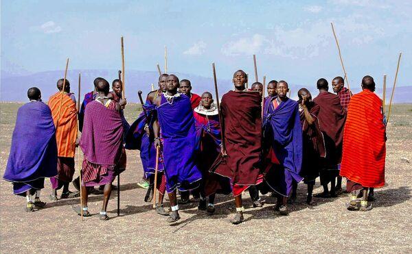 Представители племени Масаи в Танзании