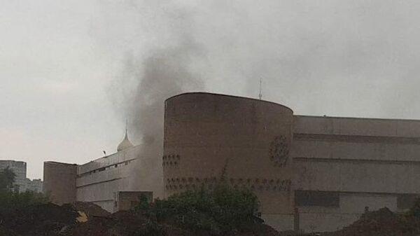 Кадры горящего СИЗО-6 в Москве