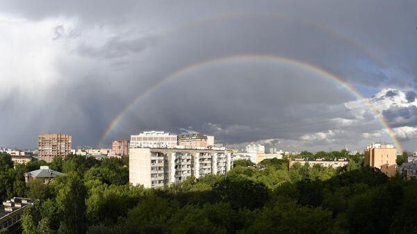 Двойная радуга над Москвой