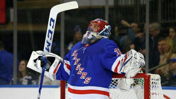 Вратарь клуба НХЛ Нью-Йорк Рейнджерс Игорь Шестеркин
