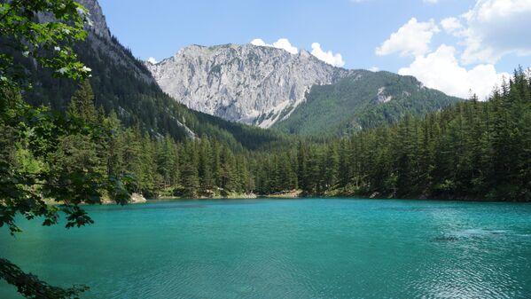 Озеро Грюнер-Зе в австрийской федеральной земле Штирии