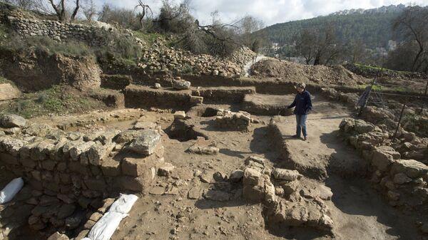 Участок археологических раскопок в Тель-Моца близ Иерусалима, Израиль