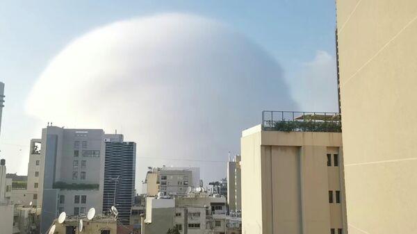 Ударная волна от взрыва в Бейруте, Ливан