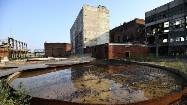 Производственные корпуса бывшего химического комбината Усольехимпром в Усолье-Сибирском