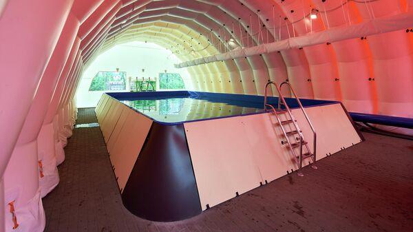 Первый передвижной бассейн для детей заработал в России
