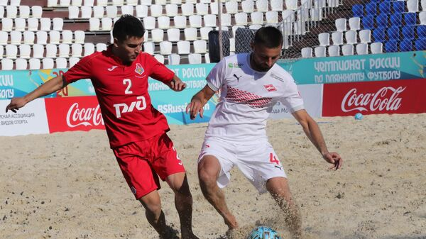 Спартак - Локомотив в матче чемпионата России по пляжному футболу