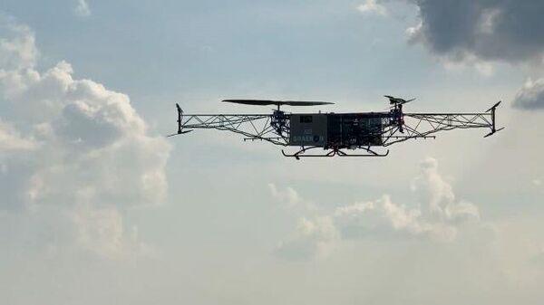 Видео испытаний новейшего дрона-дальнобойщика