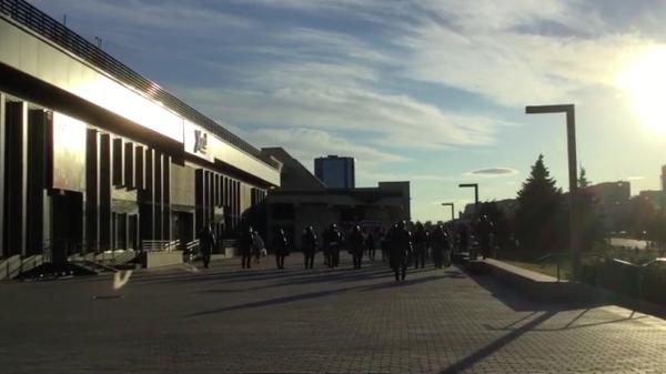 Войска разгоняют и задерживают протестующих у метро Пушкинская в Минске