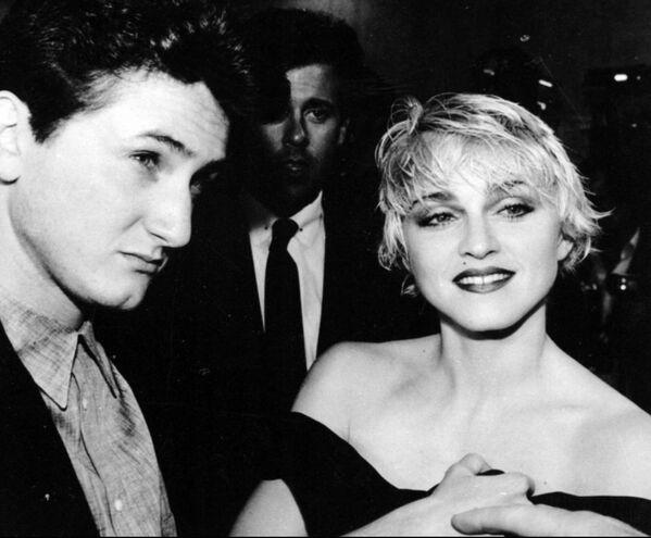 Актер Шон Пенн и его жена певица Мадонна, 1986 год