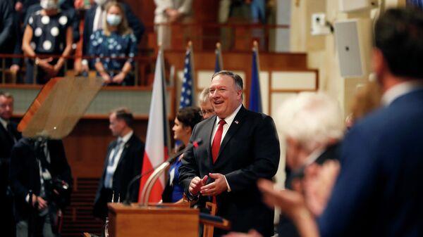 Госсекретарь США Майк Помпео в Праге