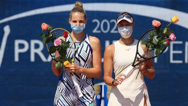 Чешские теннисистки Кристина Плишкова и Люция Градецкая