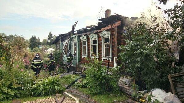 Ликвидация пожара в частном доме в городском округе Ступино