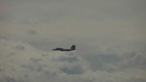 Полет ракетоносцев Ту-95МС над Тихим океаном