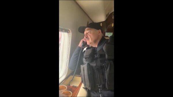 Как крысы разбежались  –  Лукашенко с вертолета об обстановке у дворца Независимости