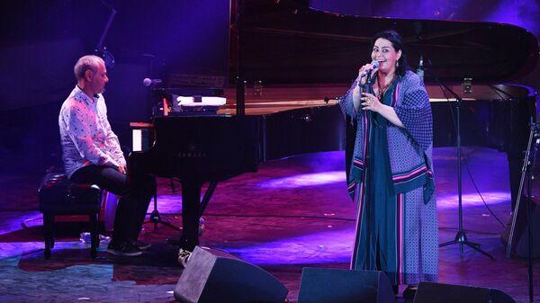 Певица Мариам Мерабова выступает на Международном джазовом фестивале Koktebel Jazz Party - 2020 в Крыму