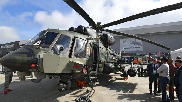 Военно-транспортный вертолет Ми-171Ш Storm на выставке вооружений Международного военно-технического форума Армия-2020