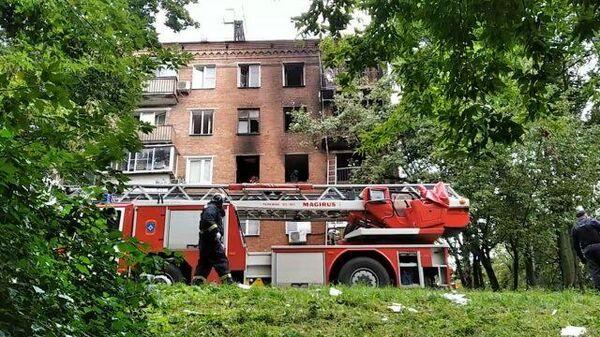 Кадры последствия взрыва газа в жилом доме в Москве