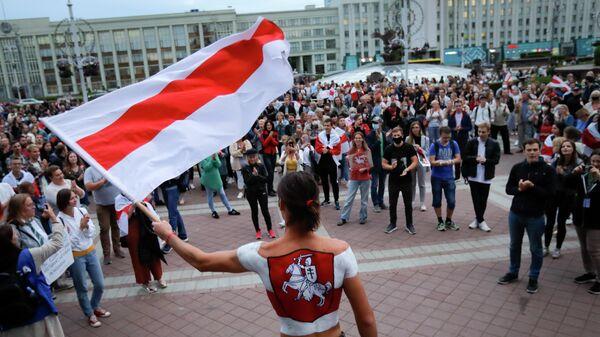 Участники акции протеста в Минске