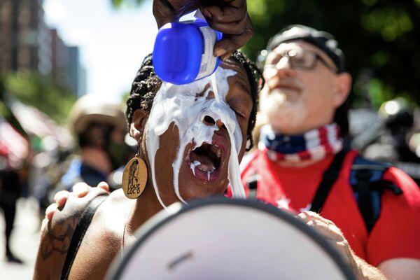 Акция против расовой дискриминации в Портленде, США