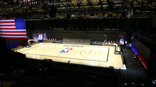 Баскетбольная арена перед матчем НБА