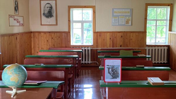 Средняя школа в Александрии, где учился Александр Лукашенко
