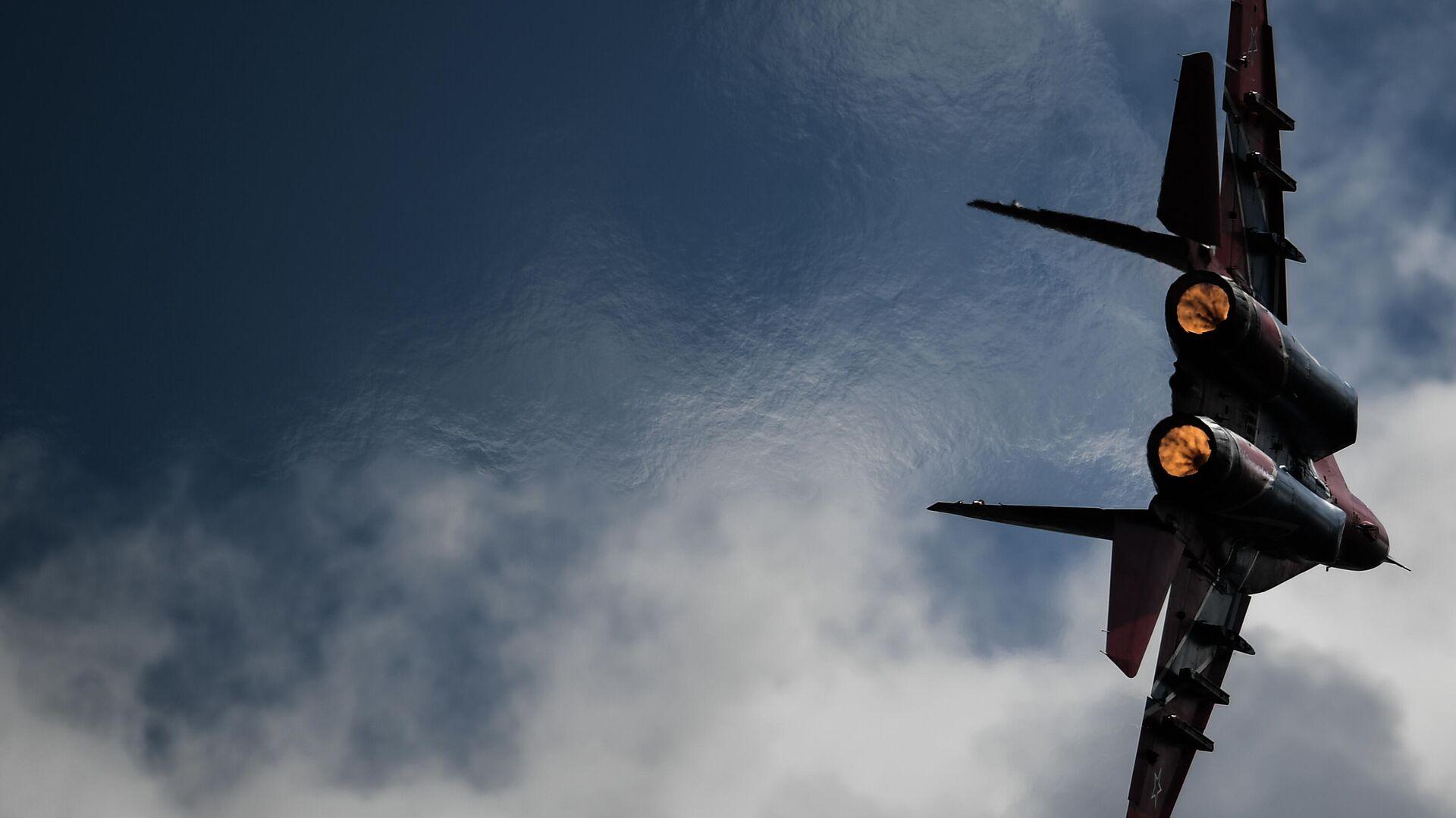 Истребитель МиГ-29 пилотажной группы Стрижи выполняет демонстрационный полет в рамках Международного форума Армия-2020 на аэродроме Кубинка в Подмосковье - РИА Новости, 1920, 07.09.2020