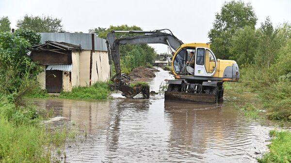 Ликвидация последствий паводка в Бикинском районе Хабаровского края