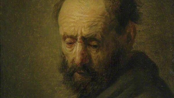 Картина Голова бородатого мужчины 1630 мастерская Рембрандта