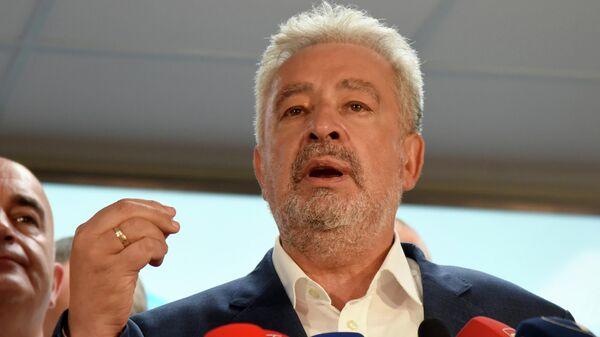 Лидер оппозиционной коалиции За будущее Черногории Здравко Кривокапич