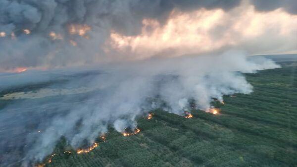 Тушение пожара в Ростовской области силами армейской авиации ЮВО