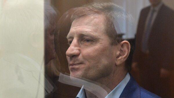 Бывший губернатор Хабаровского края Сергей Фургал на заседании в Басманном суде