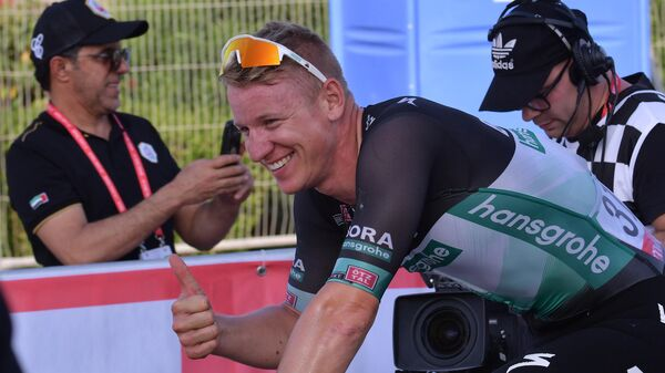 Немецкий велогонщик команды BORA-hansgrohe Паскаль Акерманн